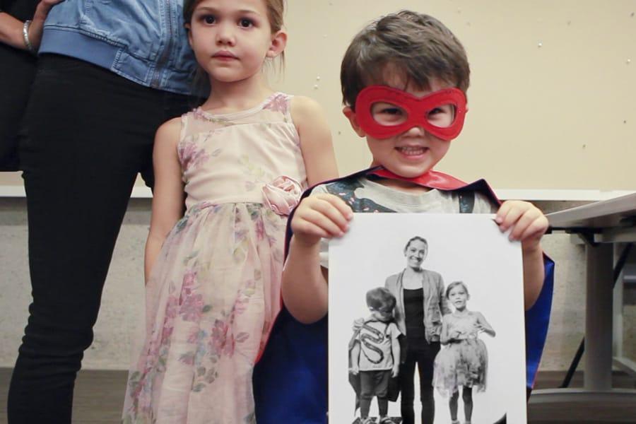 ObO Community Portrait little boy holding print