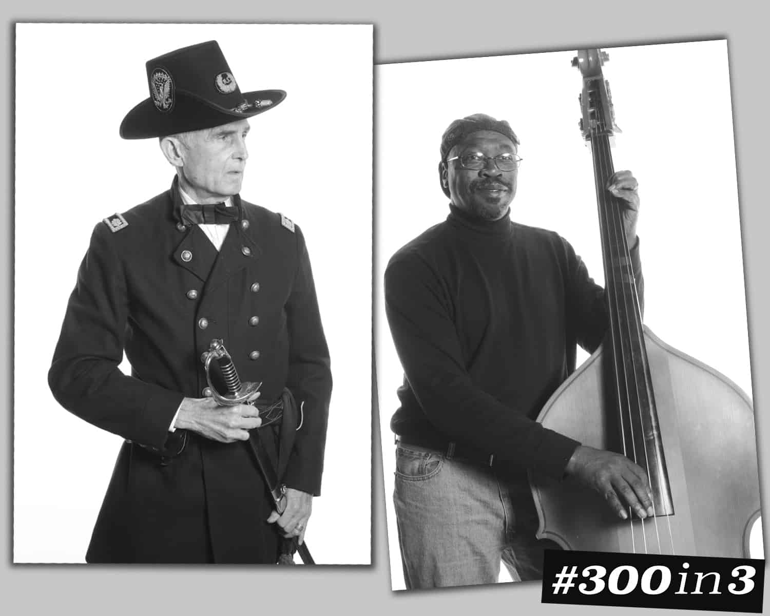 ONE by ONE Community Portrait IH soldier and bass player