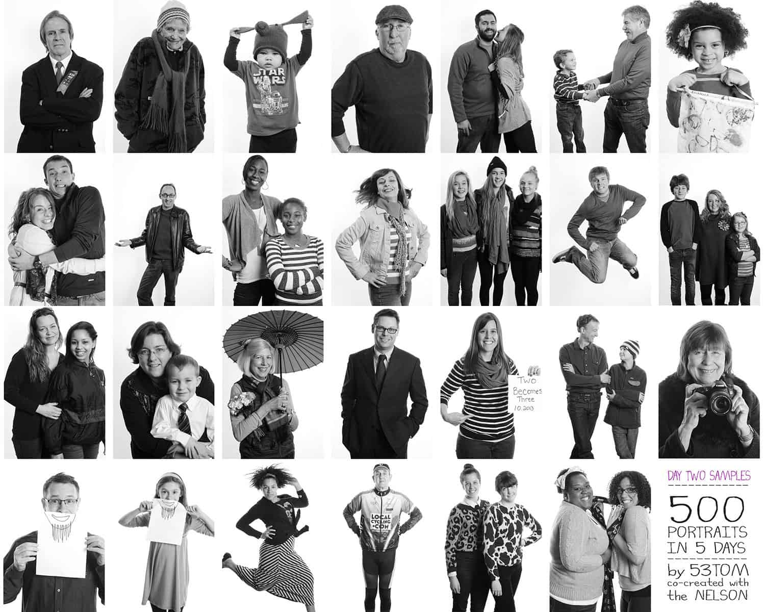ONE by ONE Community Portrait Nelson Atkins Day 2 photo grid