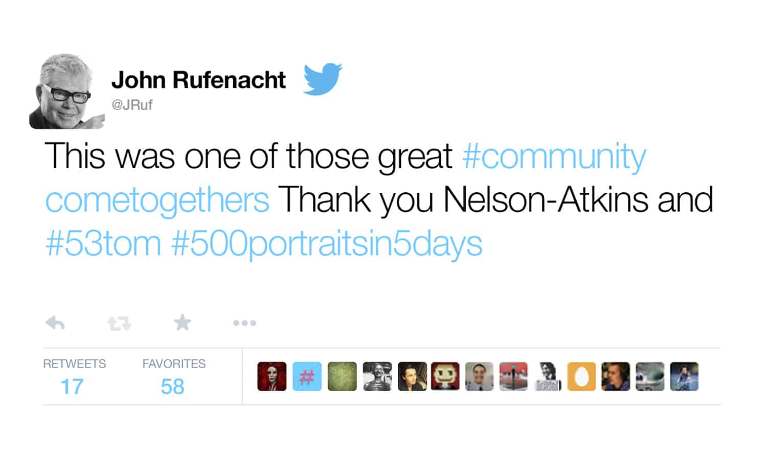 ONE by ONE Community Portrait Nelson Atkins Twitter 1