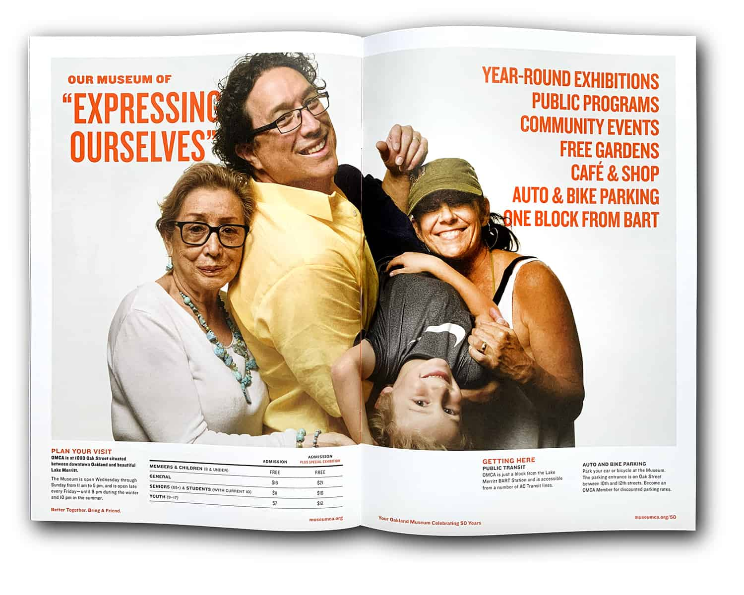 ONE by ONE Community Portrait OMCA brochure family