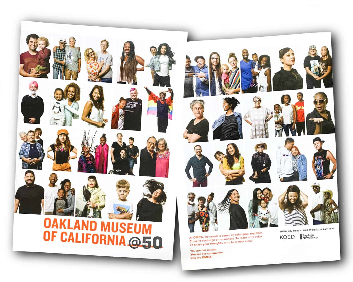 ONE by ONE Community Portrait OMCA brochure front and back