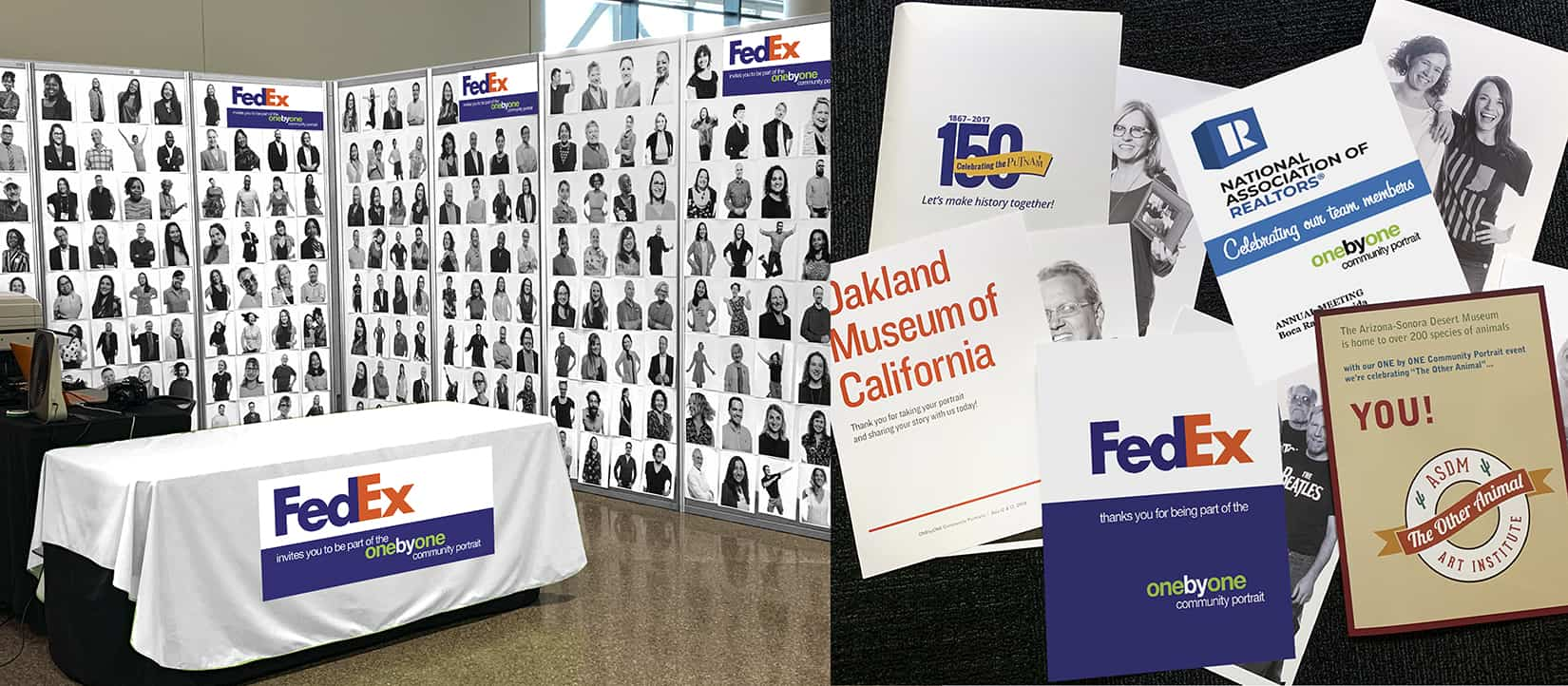 FedEx as sponsor of ONE by ONE Community Portrait