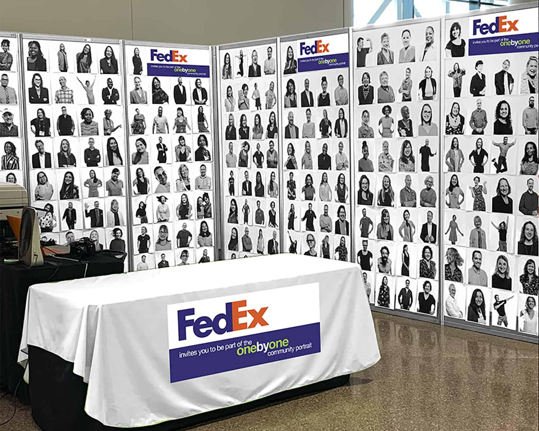 FedEx sponsors ONE by ONE Community Portrait